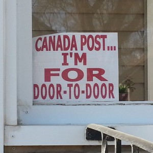 Canada Post... I'm for door-to-door