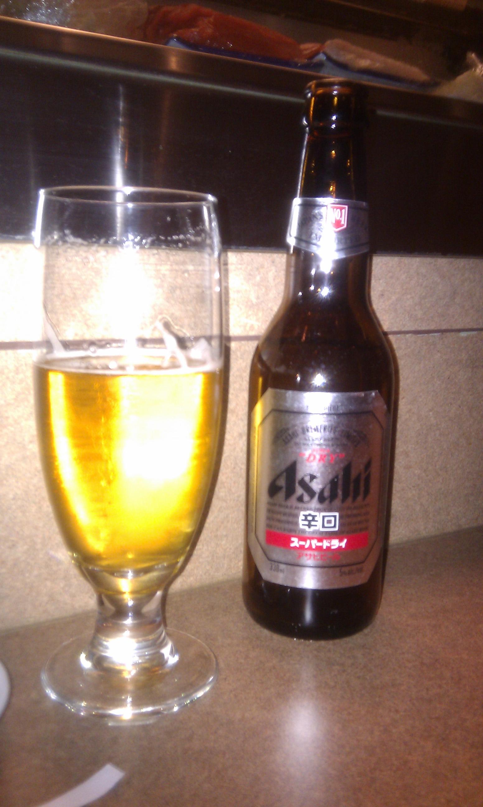 Asahi Beer at Michi Sushi